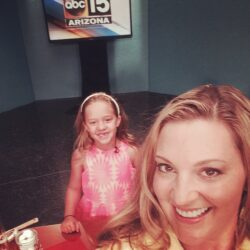 Bali and Mom getting ready to go on ABC15